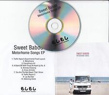 SWEET BABOO Motorhome Songs EP 2013 UK 10-track promo test CD