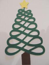 6 Ribbon Christmas Tree Diecuts,Christmas, Decorations, Scrapbooking, Cardmaking