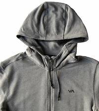 Men's RVCA Heather Gray Hoodie Hooded Sweatshirt Medium M NWT NEW $80+ Nice!