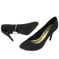 Womens New Black Slip On Party Formal Court High Heel Wedding Shoes UK  3 -11