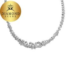 DIAMOND MARQUISE BAGUETTE ROUND ALL AROUND SET DIAMOND NECKLACE