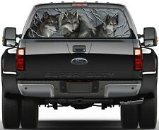 Wolves in Woods. Winter  Rear Window Graphic Decal Sticker Tint Truck SUV