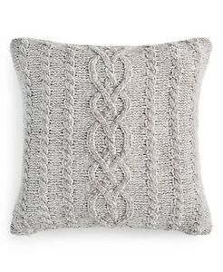 "Martha Stewart Collection Beige Khaki Chenille 20"" x 20"" Decorative Pillow Sham"
