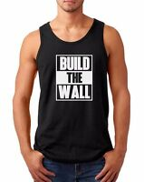 Men's Tank Top Build The Wall #2 T-shirt Political Tee Donald Trump President