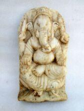 Antique Old Rare Hand Carved Italian Marble Hindu God Ganesha Sculpture Statue