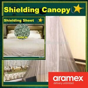 Silver Coated RF/EMF Shielding Canopy Cover Tent Protection Mosquito 100% Net