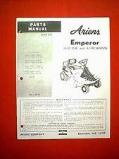 ARIENS EMPEROR 8 HP REAR ENGINE RIDING MOWER PARTS MANUAL