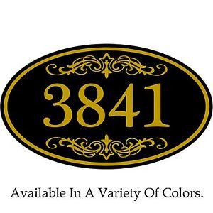 "House Address Sign Personalized Aluminum Plaque 12"" x 7"" Custom Color Scheme"