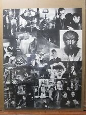 Vintage Dracula Monsters collage Poster 1970's Inv#G3179