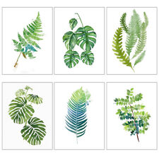 Modern Poster Print Art Tropical Green Leaf Plant Nordic Pop Watercolor Painting