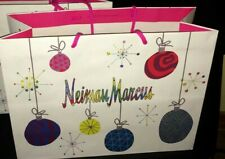 Neiman Marcus Holiday Gift Shopping Bag Limited Ornaments Multi-Color Crazy Good
