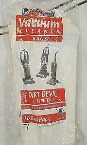 AMERICAN FARE VACUUM CLEANER BAGS DESIGNED TO FIT: DIRT DEVIL TYPE D7 BAG TOTAL
