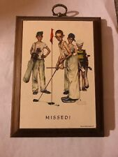 Norman Rockwell Missed 4 Boys Golfing 4x7 plaque