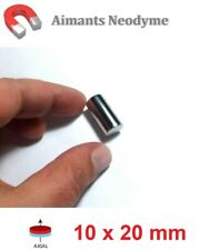 Lot aimant cylindre 10X20mm Très Puissant Neodyme N35 : Fixation, Magnet, Fimo..