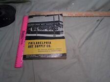 1960 Philadelphia Art Supply Co. Catalog  Artists Materials  & more   Drafting