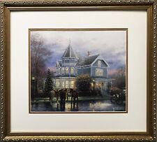 "Thomas Kinkade ""Christmas Memories"" New CUSTOM FRAMED Art Print PAINTER OF LIGHT"