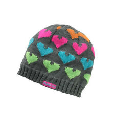 Genuine Subaru Heart Beanie Ladies Hearts Hat Impreza STI WRX Gray Ski Snow oem