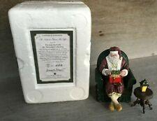 2004 Thomas Kinkade St. Nicholas Collection St Nicholas Opens His Gift Figurine