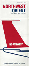 Northwest Orient Airlines system timetable 10/1/66 [0112]