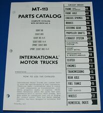 International IH Scout 80 800 1961-68 Parts Catalog Manual MT-113