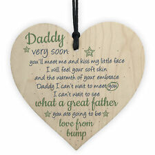 Handmade Heart From Bump Gifts Dad Daddy to Be Father Baby Son Daughter Card