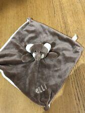 Elli & Raff Elephant Brown Comforter Baby Soother Rattle VGC