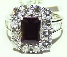GIA Certified 4.94CT Platinum Natural Brazilian Alexandrite Diamond Vintage Ring