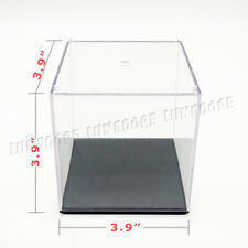 UK Perspex Cube 10cm Display Box Clear Acrylic Case Plastic Base Dustproof Toy