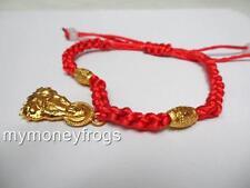 Feng Shui Oriental Kwan Yin Chinese Bead Buddhist Red String Bracelet Jewelry #Q