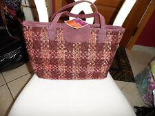 Vera Bradley Maroon Tweed handbag  NWT
