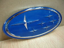 Front Grille Badge Emblem Blue Subaru Impreza Liberty Legacy Forester Free Ship