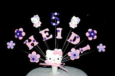Hello Kitty,  Flower Birthday custom Cake Topper / decoration, personalised