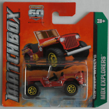 Matchbox - Jeep Willys mattrot Neu/OVP