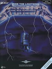 METALLICA - RIDE THE LIGHTNING GUITAR TAB SONG BOOK