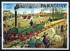 PARAGUAY 1986 Eisenbahn Railways Train Adler Block 436 ** MNH