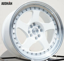 "AODHAN AH01 17X9 +25 4X100 2.5"" LIP WHITE WHEEL FIT HONDA SCION JDM AGGRESSIVE"