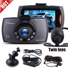 Dash Cam Car Camera HD DVR Recorder G-sensor POV View UK 1080P Video Dual Lens