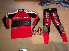 "HEBO GASGAS GAS GAS TRIALS + PANTS KIT  TROUSERS GLOVES M top 32"" pants gloves"