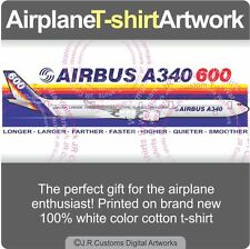 T-shirt for Airbus A340 600 A340-600 Factory Colors Airplane Aircraft Fans