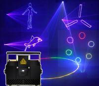 2W SD card RGB ILDA Animation Laser Light DJ Stage Effect Xmas party 2000MW