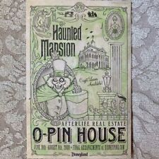 Disney Collectible Haunted Mansion O-Pin House Post Card