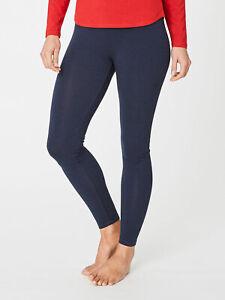 Thought Plain Bamboo Organic Cotton Leggings Navy Yoga Ethical RRP £25