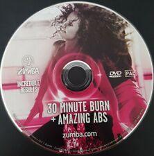 Zumba Fitness DVD 30 Minute Burn + Amazing Abs wie Neu Versand kostenlos