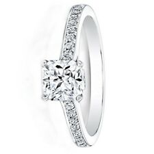 0.66 Ct Real Cushion Cut Diamond Engagement Ring 950 Platinum Rings Size L M N O