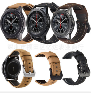 For Samsung Galaxy Watch 46MM Classic Leather Watch Band Wrist Strap
