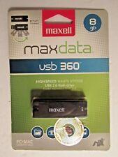 1 Pack - Maxell 8GB Max Data High Speed USB 2.0 Flash Drive, PC + MAC Compatible