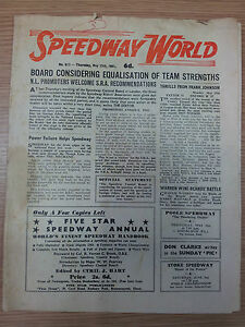 SPEEDWAY WORLD - 25th May 1961 No.813
