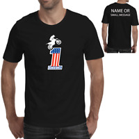 Evel Knievel Mens Stunt Rider Retro 70's Motorcycle  T-Shirt