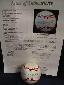 Joe, Vince, & Dom DiMaggio RARE Autographed OAL (MacPhail) Baseball–Full JSA LOA