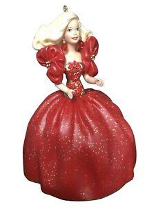 Barbie Keepsake Ornament Holiday Barbie 1993 Red Dress